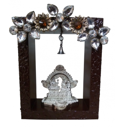 Lakshmi and Ganesha in Box Frame