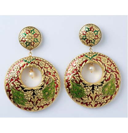 Earrings (Gold Leafed)