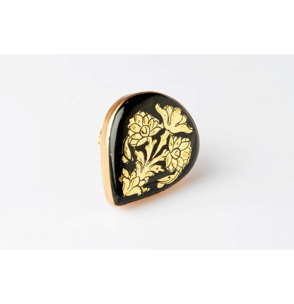 Finger Ring- Gold Embossed