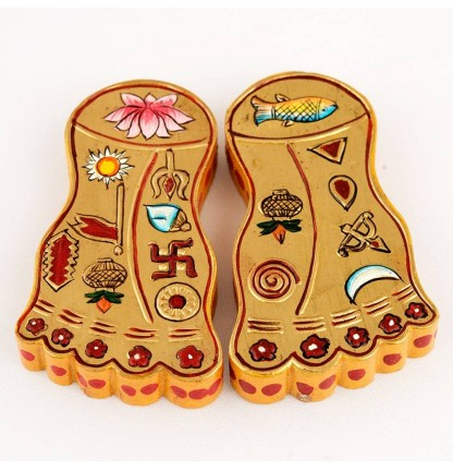 Lakshmi Religious Footprint  (Wooden, Plated)