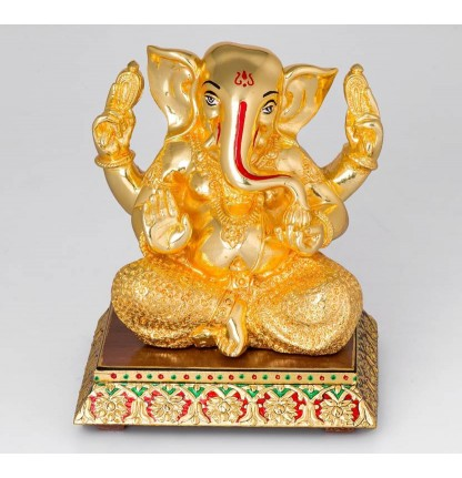 Ganesha Gold Forming Pure 999 Silver with Gold forming