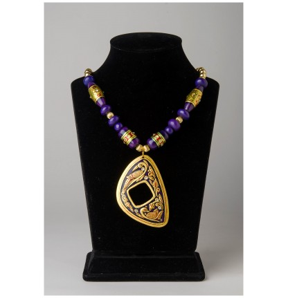 Oval Necklace (Gold Foiled)