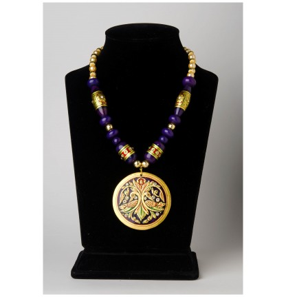 Peacock Necklace (Gold Foiled)