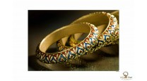 Bangles -Gold Embossing
