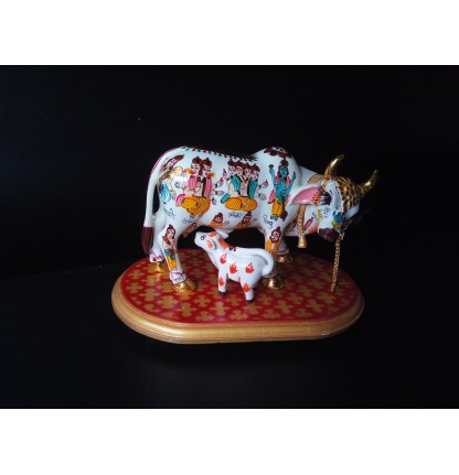 KAMDHENU COW WHITE SMALL